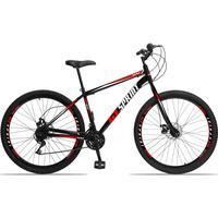 Bicicleta Aro 29 Gt Sprint Mx1. 21v Garfo Rigido Freio Disco - Preto/vermelho E Branco - 19''