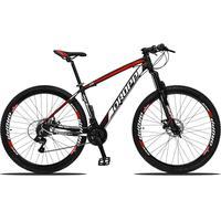 Bicicleta Aro 29 Dropp Z3 21v Shimano, Suspensão Freio Disco - Preto/vermelho E Branco - 21''