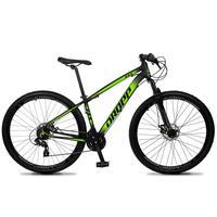 Bicicleta Aro 29 Dropp Z4x 24v Suspensão E Freio A Disco - Preto/verde - 17´´ - 17´´