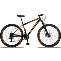Bicicleta Aro 29 Dropp Sport 21v Suspensão E Freio A Disco - Preto/laranja - 17´´ - 17´´