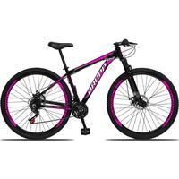 Bicicleta Aro 29 Dropp Aluminum 21v Suspensão, Freio A Disco - Preto/rosa E Branco - 15