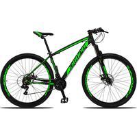 Bicicleta Aro 29 Dropp Z3 21v Shimano, Suspensão Freio Disco - Preto/verde - 15´´ - 15´´
