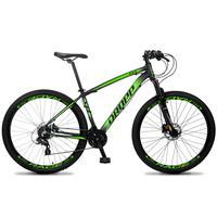 Bicicleta Aro 29 Dropp Z4x 24v Susp C/trava Freio Hidraulico - Preto/verde - 17´´ - 17´´