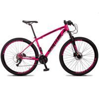 Bicicleta Aro 29 Spaceline Vega 27v Suspensão E Freio Hidral - Rosa/preto - 21´´ - 21´´
