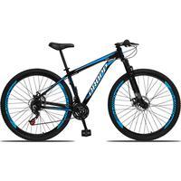 Bicicleta Aro 29 Dropp Aluminum 21v Suspensão, Freio A Disco - Preto/azul E Branco - 19