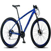 Bicicleta Aro 29 Dropp Rs1 Pro 24v Acera Freio Hidra E Trava - Azul/preto - 19''