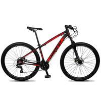Bicicleta Aro 29 Dropp Z4x 24v Suspensão E Freio A Disco - Preto/vermelho - 17''