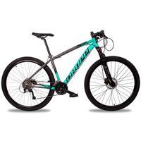 Bicicleta Aro 29 Dropp Z7x 27v Susp C/trava Freio Hidraulico - Cinza/verde E Preto - 21''