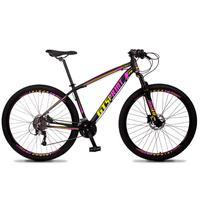 Bicicleta Aro 29 Gt Sprint Volcon 27v Susp E Freio Hidraulic - Preto/amarelo E Rosa - 19''