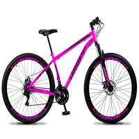 Bicicleta Aro 29 Dropp Sport 21v Suspensão E Freio A Disco - Rosa/preto - 19''