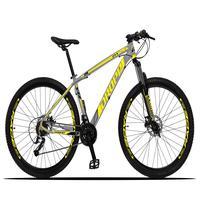 Bicicleta Aro 29 Dropp Z3x 27v Suspensão E Freio Hidraulico - Cinza/amarelo - 19''