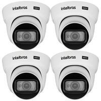 Kit 4 Câmeras Intelbras, Hdcvi, 4k, 8 Megapixel, 2.8mm, 20m - VHD 5820 D 4K