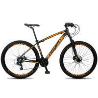 Bicicleta Aro 29 Dropp Z4x 24v Susp C/trava Freio Hidraulico - Preto/laranja - 21''
