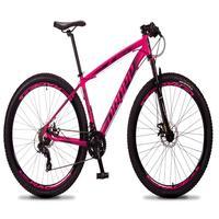 Bicicleta Aro 29 Dropp Rs1 Pro 21v Tourney Freio Disco/trava - Rosa/preto - 15