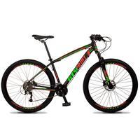 Bicicleta Aro 29 Gt Sprint Volcon 27v Susp E Freio Hidraulic - Preto/vermelho E Verde - 21''