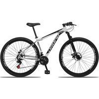 Bicicleta Aro 29 Dropp Aluminum 21v Suspensão, Freio A Disco - Branco/preto - 17