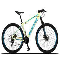 Bicicleta Aro 29 Dropp Z3x 21v Suspensão E Freio Disco - Bege/azul - 17´´ - 17´´