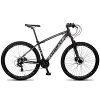 Bicicleta Aro 29 Dropp Z4x 24v Susp C/trava Freio Hidraulico - Preto/cinza - 17''