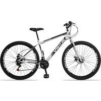 Bicicleta Aro 29 Spaceline Moon 21v Garfo Rigido Freio Disco - Branco/preto - 19