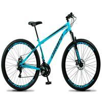 Bicicleta Aro 29 Dropp Sport 21v Suspensão E Freio A Disco - Azul/preto - 17''