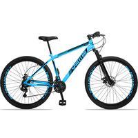 Bicicleta Aro 29 Spaceline Moon 21v Suspensão E Freio Disco - Azul/preto - 19´´ - 19´´