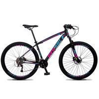 Bicicleta Aro 29 Gt Sprint Volcon 21v Suspensão, Freio Disco - Preto/azul E Rosa - 15´´ - 15´´