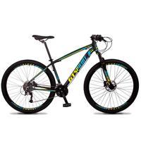 Bicicleta Aro 29 Gt Sprint Volcon 21v Shimano, Freio A Disco - Preto/azul E Amarelo - 19