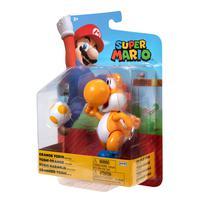 Super Mario - Boneco 4.0 Polegadas Colecionável - Yoshi Laranja