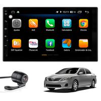 "Multimídia Corolla 2009 2010 2011 2012 2013 2014 Tela 7"" Android 9.0 Gps Câmera De Ré E Frontal Tv Digital 2gb Aikon"
