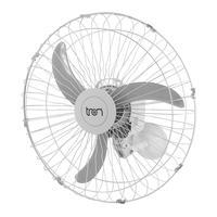 Ventilador De Parede Oscilante 60 Cm 110v Branco