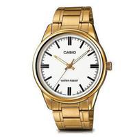 Relógio Casio Masculino Mtp-v005g-7audf Dourado Analógico