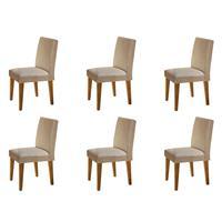 Conjunto Com 06 Cadeiras Grécia Rufato