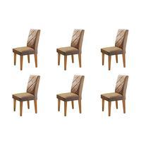 Conjunto Com 6 Cadeiras Olímpia Rufato
