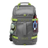 Mochila Hp Odyssey L8j89aa - Impermeável - Para Notebook - Cinza E Verde