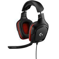 Headset Gamer Logitech G332 Multiplataforma - Stereo 981-000755 Preto/vermelho