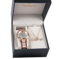 Kit Relógio Feminino Champion Analógico Cn25136e - Rosé