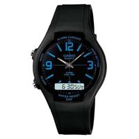 Relógio Masculino Anadigi Casio Aw-90h-2bvdf - Preto/azul