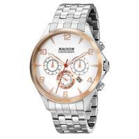 Relógio Masculino Magnum Chronograph Ma33513q - Prata/rose