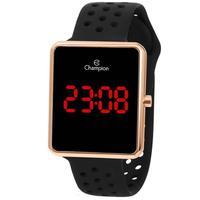 Relógio Unissex Champion Digital Led Ch40081p - Dourado