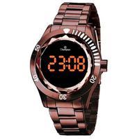 Relógio Feminino Champion Digital Ch48073r - Marrom