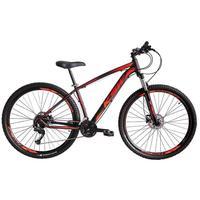 """Bicicleta Aro 29 Ksw 24 V Shimano Freio Hidraulico/trava/k7 Cor: Preto/Laranja e Vermelho, Tamanho Do Quadro:15""""- 15"""""""