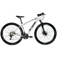 "Bicicleta Aro 29 Ksw 21 Marchas Freios A Disco E Trava Cor: Branco/Preto, Tamanho Do Quadro:15"" - 15"""