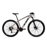 """Bicicleta Aro 29 Ksw 24 Marchas, Freio Hidráulico E Suspensão, Cor: grafite/preto, Tamanho Do Quadro: 15"""""""