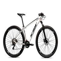 "Bicicleta Aro 29 Ksw 21 Marchas Freio Hidraulico, Trava E K7 Cor: Branco/preto, Tamanho Do Quadro:15"" - 15"""