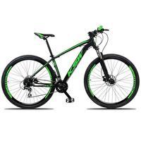Bicicleta Aro 29 Ksw 21 Marchas Freio Hidráulico E Suspensão Cor:preto/verde tamanho Do Quadro: 15pol - 15pol