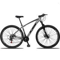 """Bicicleta Aro 29 Ksw 24 Marchas Freios A Disco, K7 E Suspensão Cor: Grafite/Preto, Tamanho Do Quadro:15"""" - 15"""""""