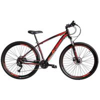 Bicicleta Aro 29 Ksw 21 Marchas Freio Hidráulico E Suspensão Cor: preto/laranja E Vermelho tamanho Do Quadro:21  - 21