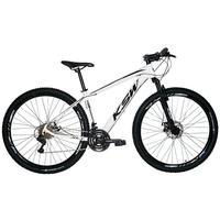 "Bicicleta Aro 29 Ksw 24 Marchas Freios A Disco C/trava E K7 Cor: branco/preto tamanho Do Quadro:15"" - 15"""