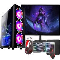 Pc Gamer Completo Fácil, Intel I3 10100f, 8GB, Gtx 750 4GB, SSD 240GB, Monitor 21 pol, Fonte 500w