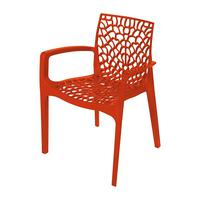 Cadeira Gruvyer C/Braço Cozinha Jantar 57X40X82Cm Laranja